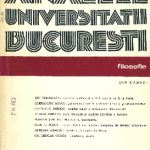 1994: Analele Universităţii din Bucureşti- Seria Filosofie